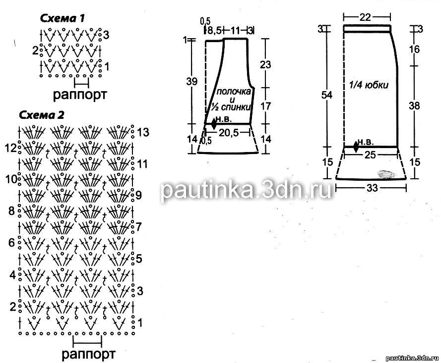 Схема вязания болеро, схема