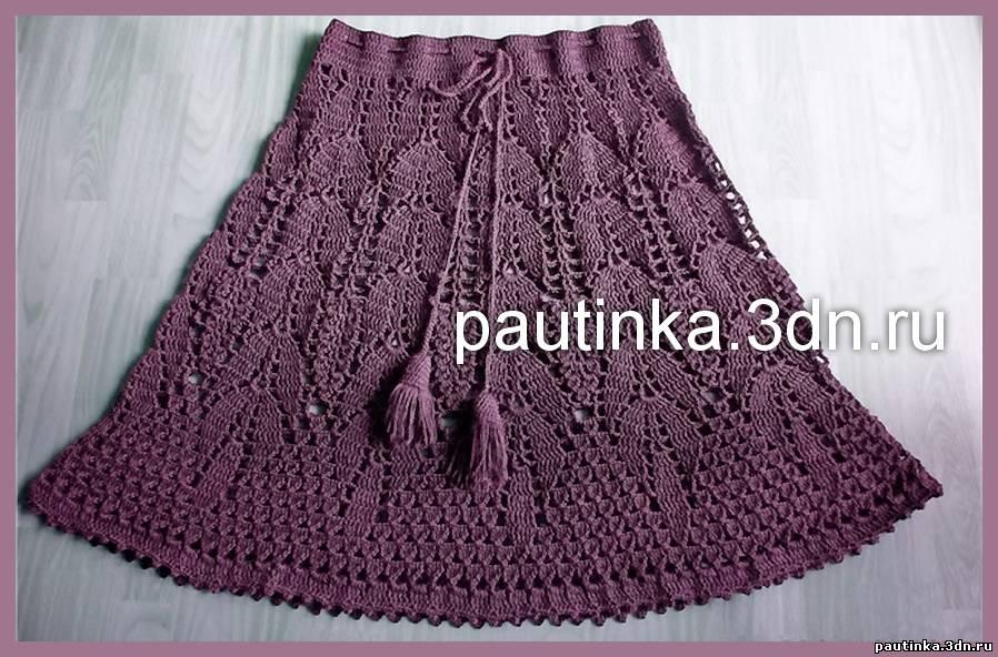 9524ca58b6e Вязание крючком. Схемы для вязания юбок.