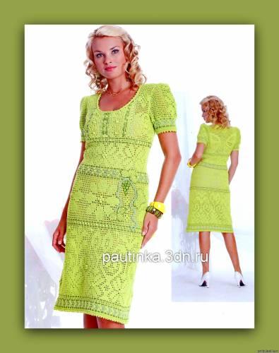Схемы вязания платья - Схемы