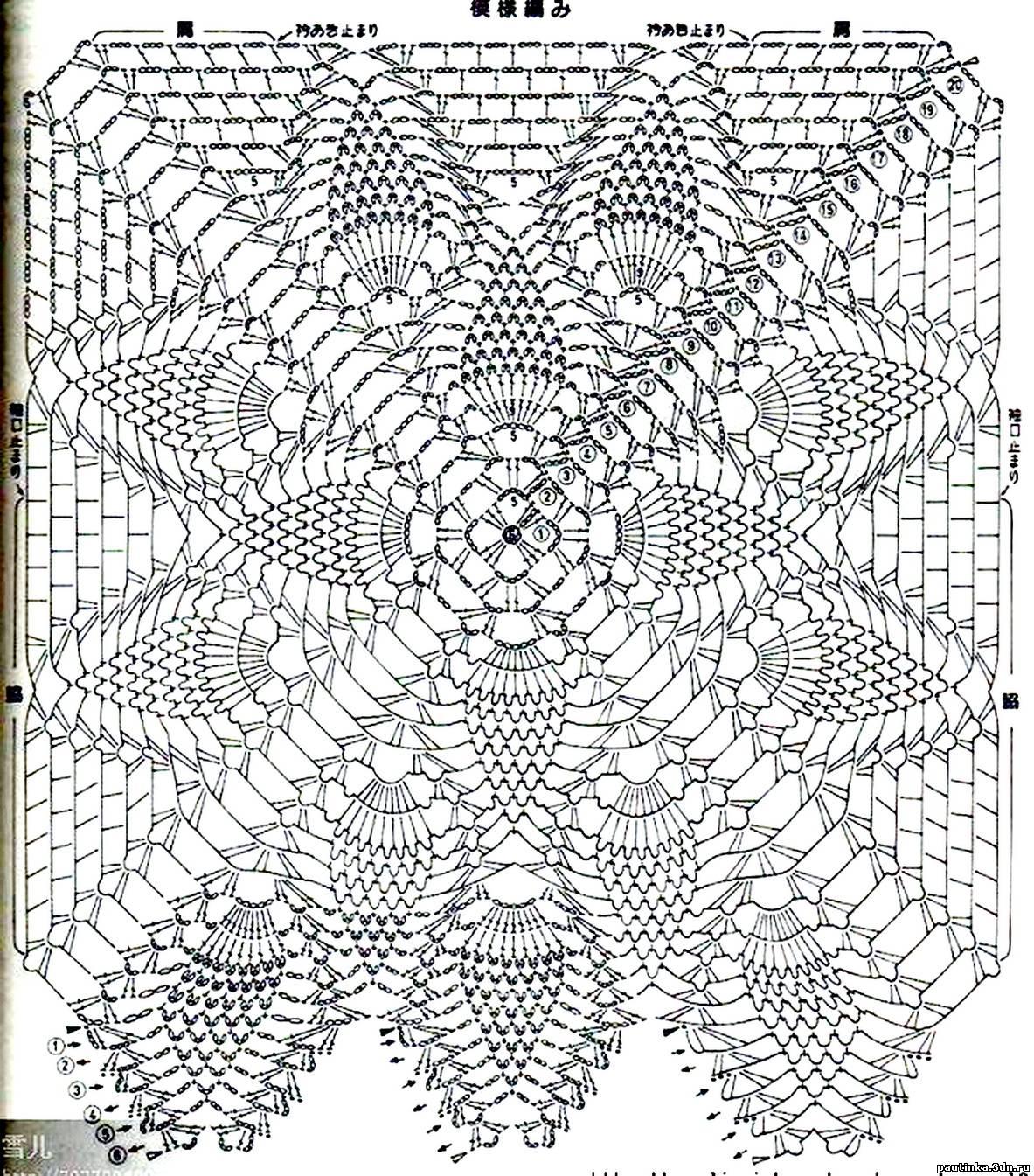 Вязание крючком квадратный узор 72