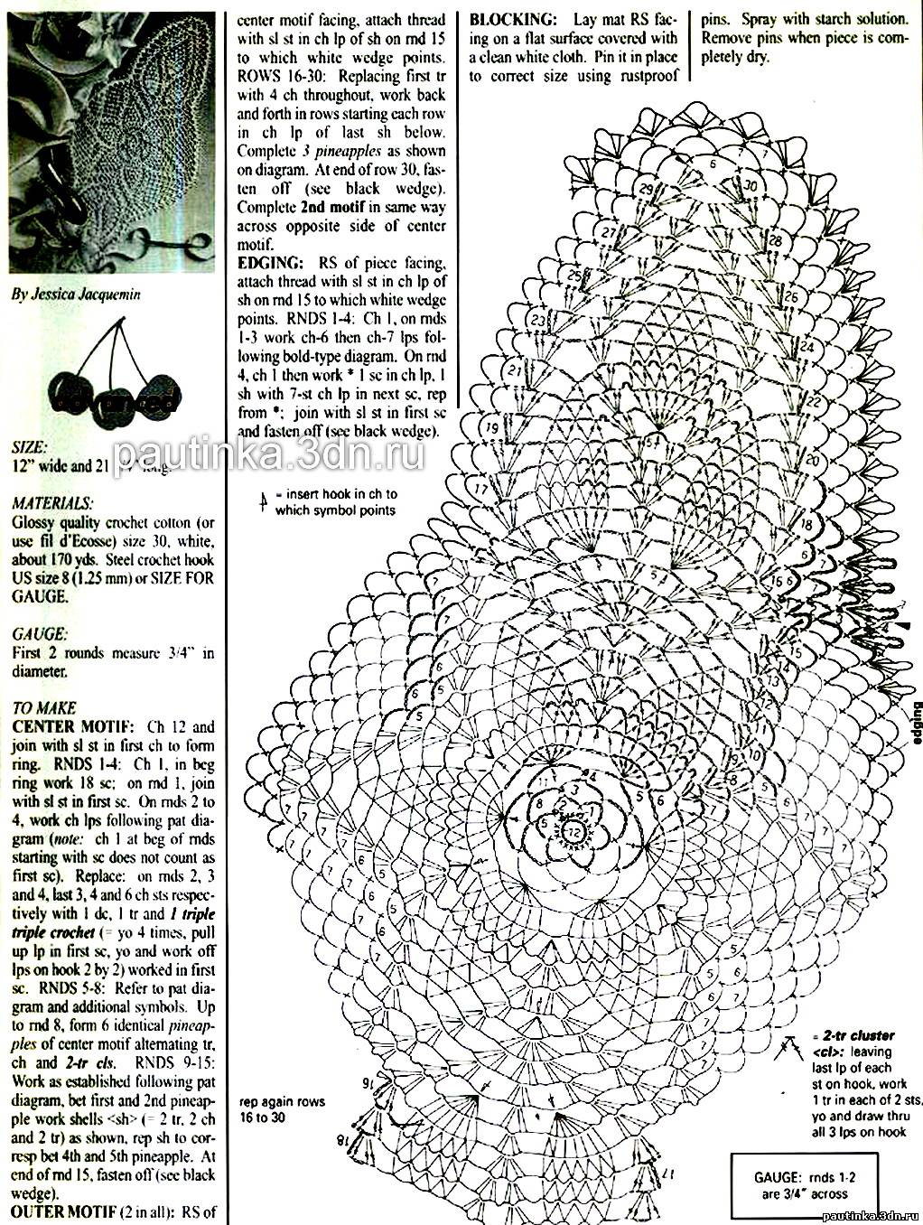 Овальная салфетка вязанная крючком схема фото 567