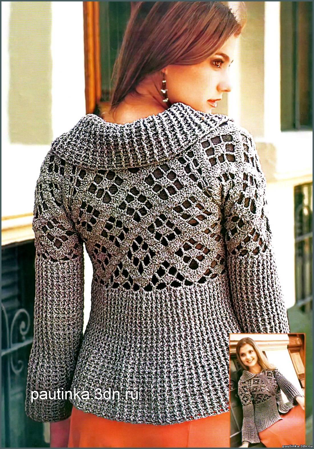 модели вязанных крючком платье из японских журналов со схемами