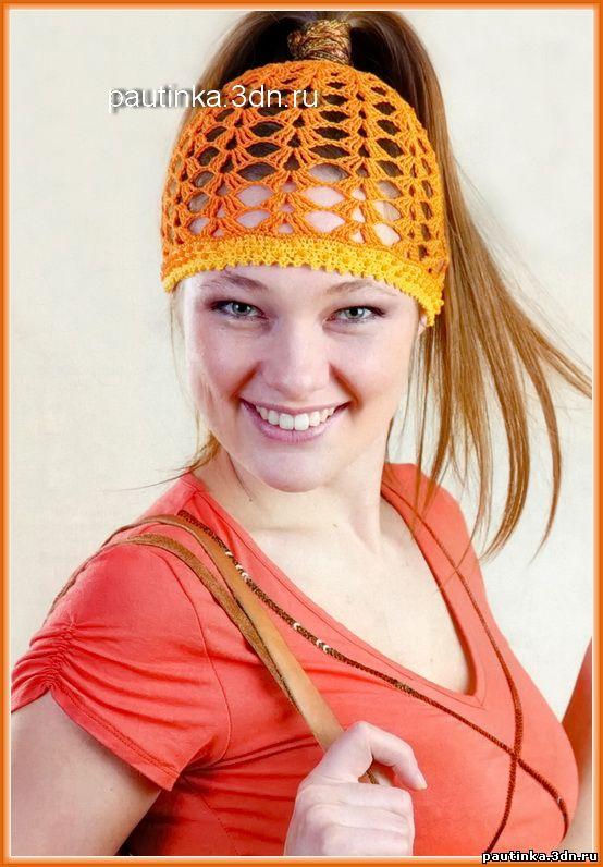 шапочки связанной крючком