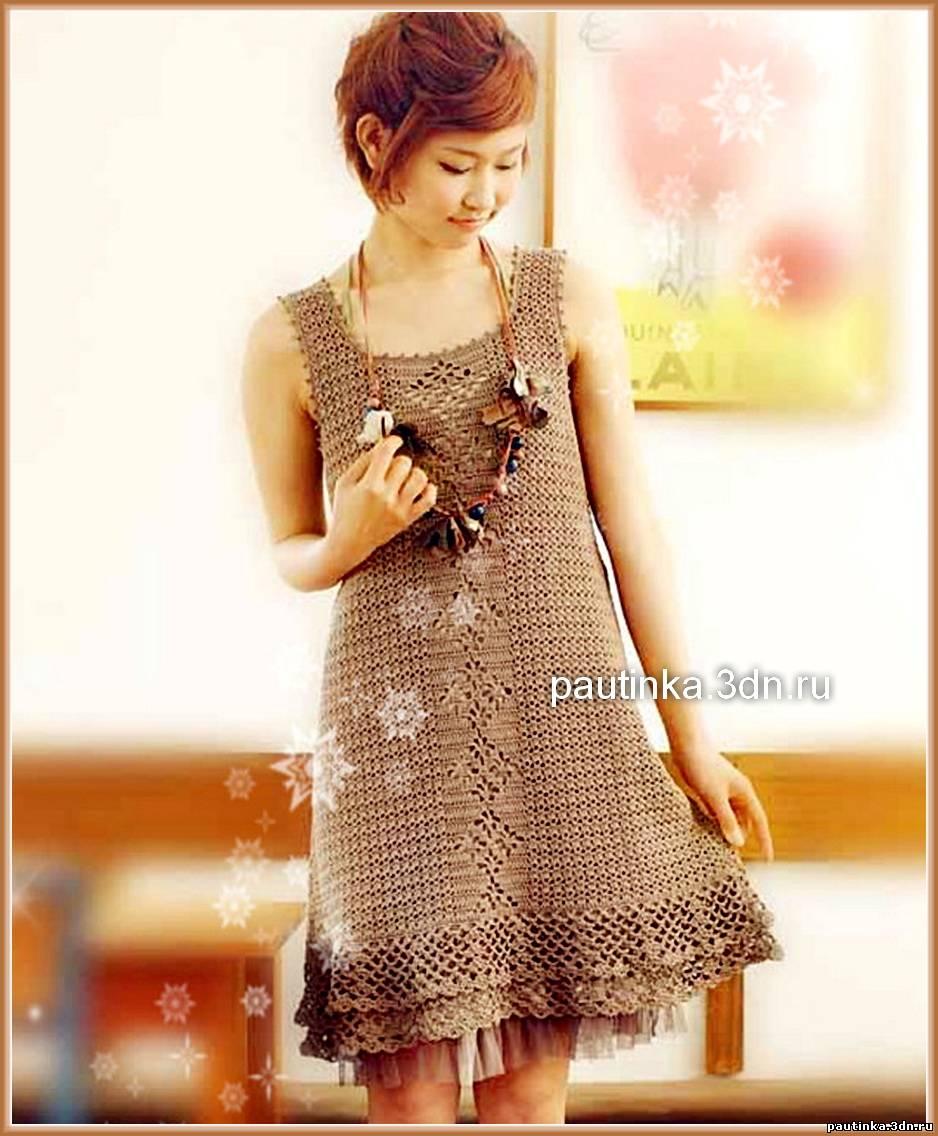 Японские модели вязаных платьев