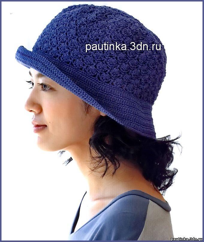 Как вязать шляпку с полями.