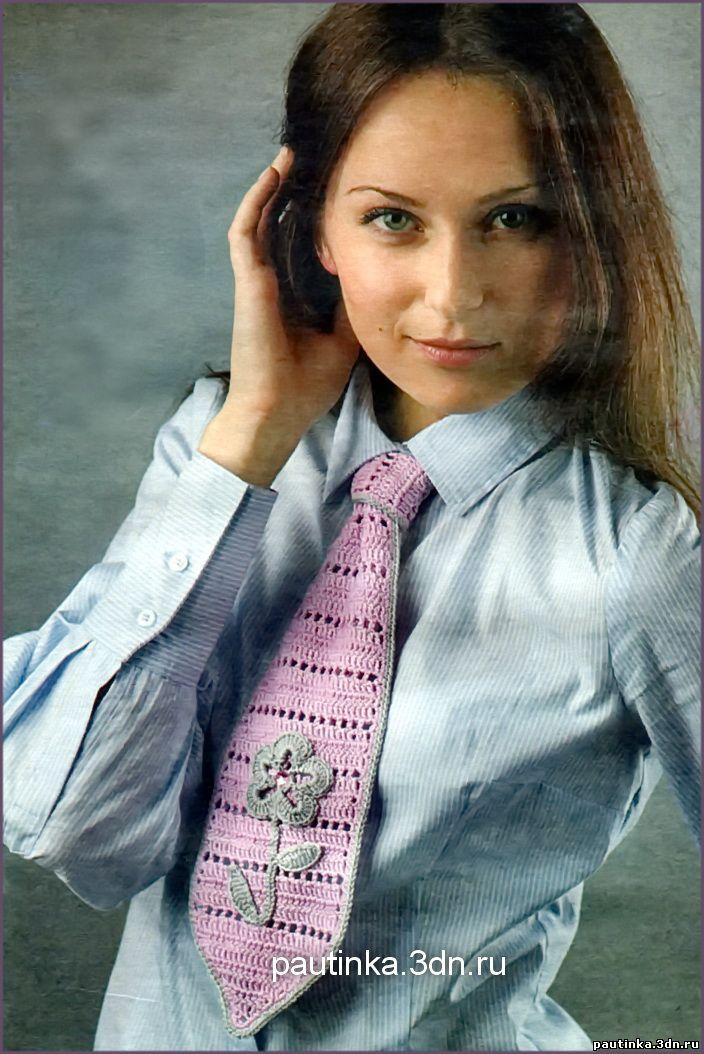 а схема вязания галстука