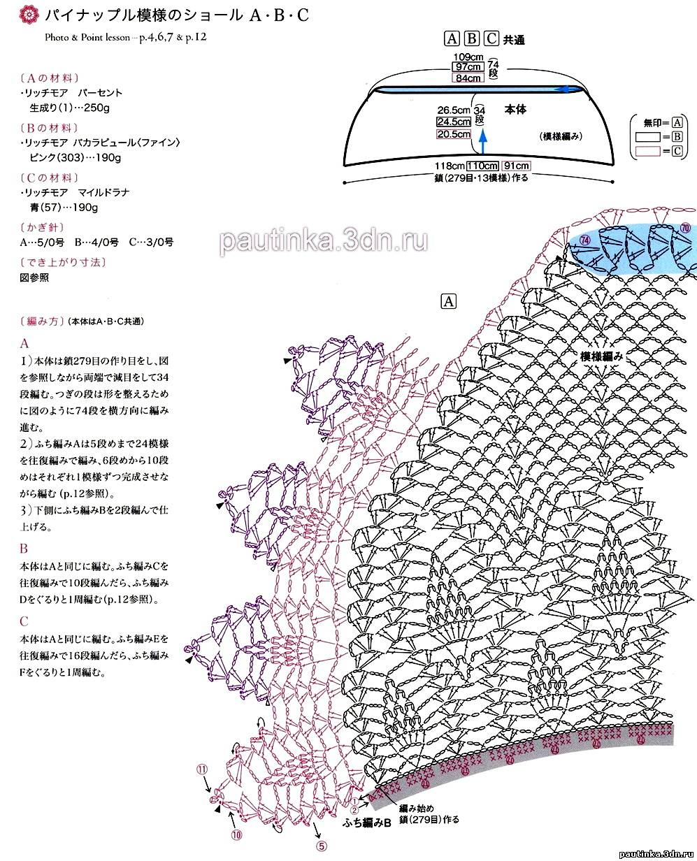 Вязание светлана берсанова шали