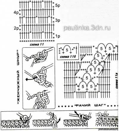 Вязание крючком шаг за шагом схема 462